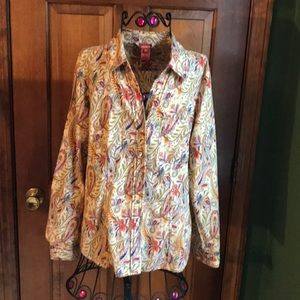 Sundance Paisley Cotton Blouse 8
